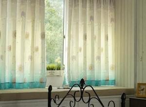博丽雅窗帘装修图,飘窗窗帘靠墙还是不靠窗好?