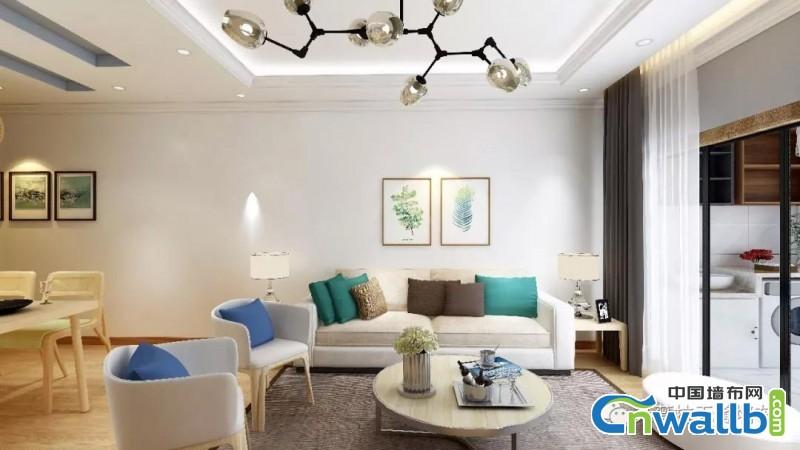 朵薇拉墙布背景墙效果图,墙布与室内家居的搭配技巧