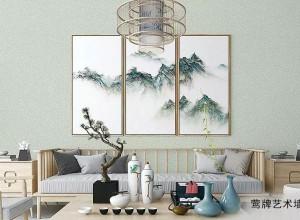 莺牌艺术墙布现代简约效果图,清产新却不失贵 气