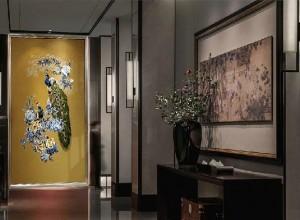 红宝石墙布独花刺绣系列产品图片