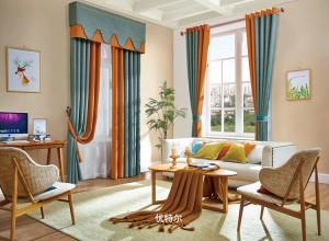 优特尔窗帘棉麻系列产品效果图