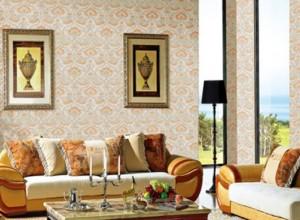 美家美户无缝壁布效果图,欧式风格装修图