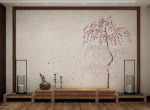 MANSHOW曼秀墙布客厅背景墙装修图片