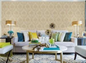 沁绣无缝墙布背景墙装修图片,不平凡的美是家里的美
