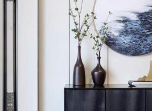 俊绣环保墙布新中式风格玄关背景效果图