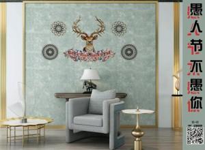 曼秀无缝墙布古典风背景墙装修图片