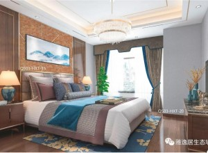 雅逸居生态墙布卧室轻奢范儿装修图片