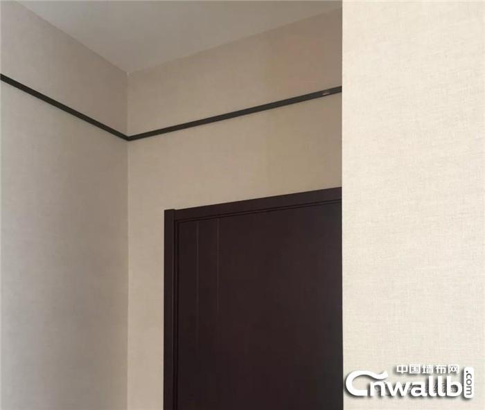 领绣墙布麻布全房的实景图新鲜出街!效果和施工都很不错