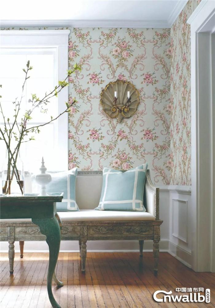 红宝石墙布演绎古老文明的爱情色彩 让家装浪漫触手可及