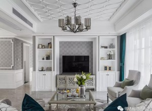 领绣刺绣墙布轻奢风背景墙图片,为家塑造不一样的时髦风格!