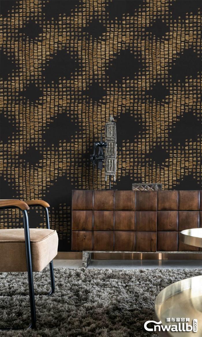 宏绣墙布客厅玄关背景装修效果图