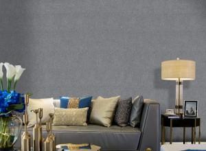 宏绣墙布客厅素色系列装修效果图