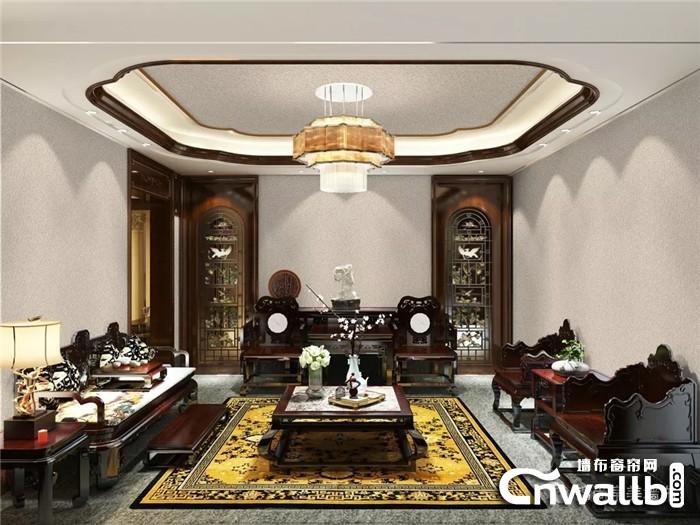 锦尚帛美新中式墙布 古今融汇之美