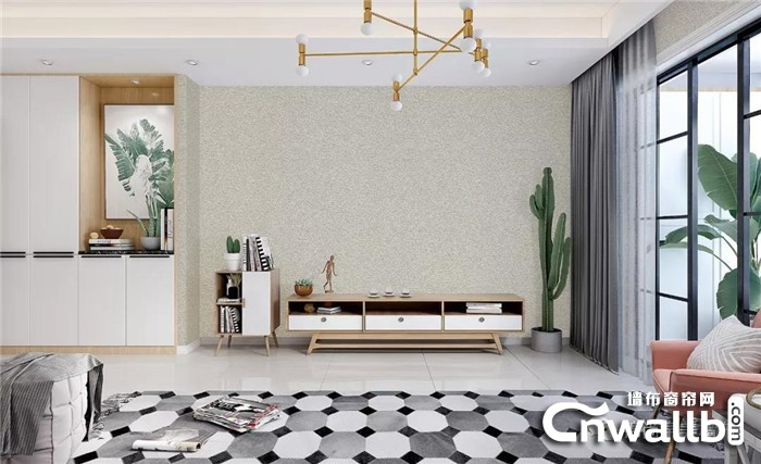 锦尚帛美素色墙布去繁从简,让家装美得不可方物!