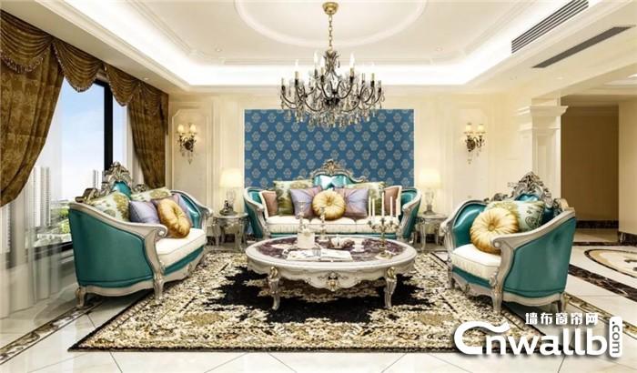 凡情艺术墙布的色彩组合让人极度愉悦!
