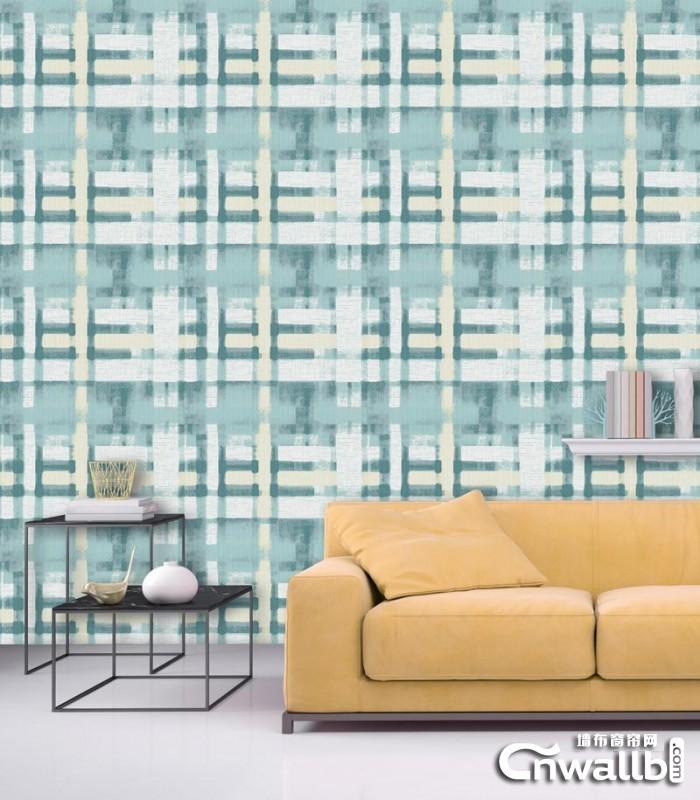 欧仕莱墙布现代轻奢风背景墙装修效果图