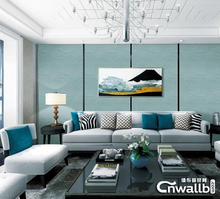 保奇丽墙布简约风格装修效果图,简约风背景墙图片