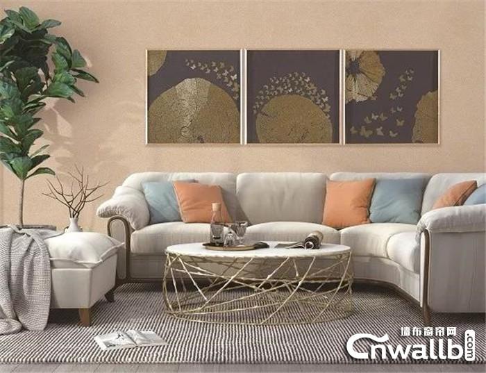 沁绣墙布让墙壁焕发艺术的气息,提升家居空间艺术感!
