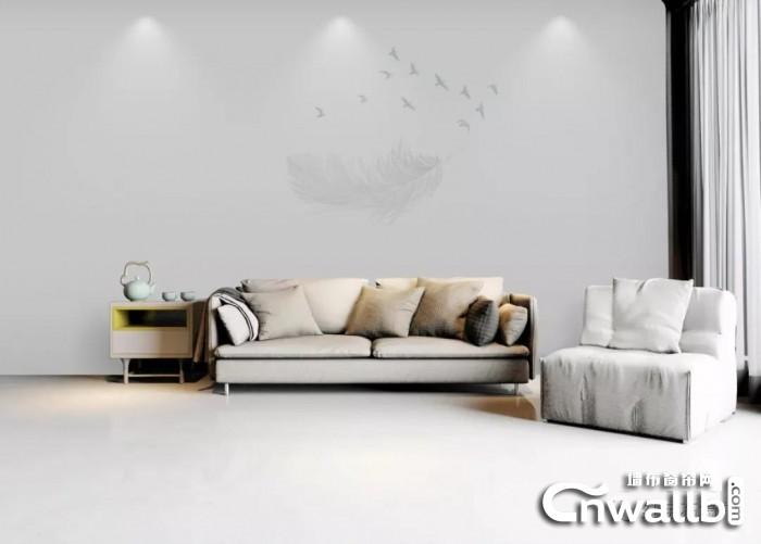 红宝石墙布现代简约风同时满足实用性和功能性!