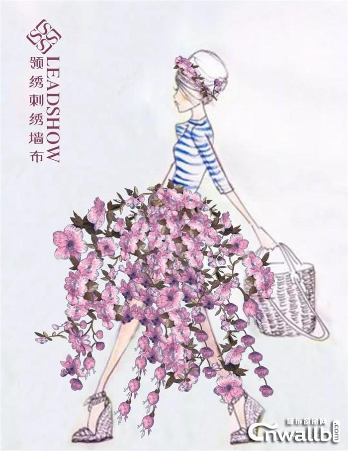 用T台形式展现领绣刺绣墙布不为人知的惊艳一面!