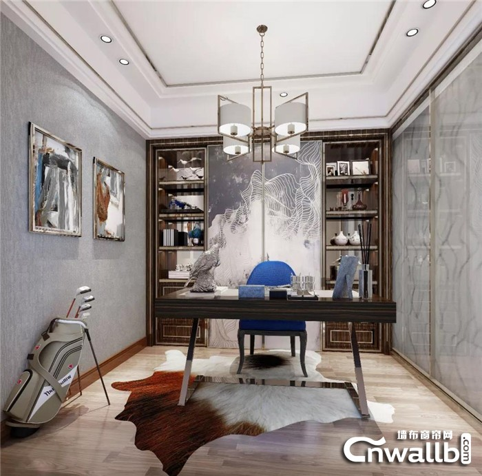 汇明提花墙布装饰您的书房,让生活摆脱枯燥!