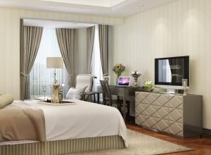 九龙墙纸壁布卧室欧式风格装修效果图