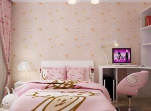 九龙墙纸壁布卧室儿童房装修效果图