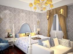 安妮家无缝壁布欧式卧室系列
