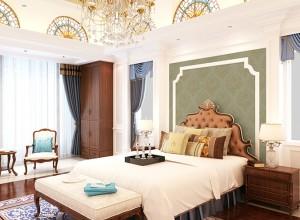 卧室欧式风格墙布装修图,安妮家墙布欧式风格