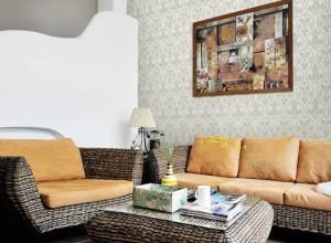 雅菲壁布时尚棉麻系列壁布装修效果图