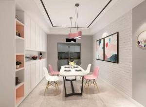 雅菲壁布高级灰+粉色产品及装修效果图