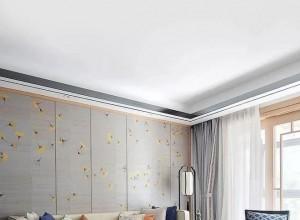元龙无缝墙布轻奢时尚风背景墙装修效果图