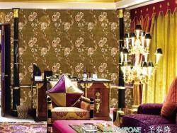 圣泰隆墙布刺绣系列-国色天香