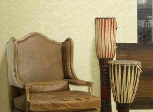 圣泰隆墙布素色系列沙发背景效果图