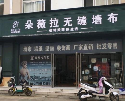 朵薇拉无缝墙布山东枣庄专卖店
