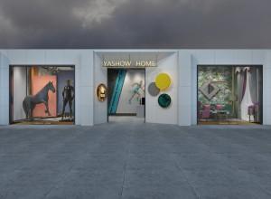 雅绣之家墙布窗帘展厅装修效果图