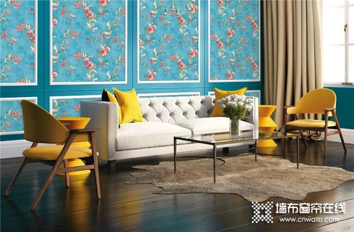 科布斯墙布融入花开惊艳时的美景,为家描绘一份永远的春