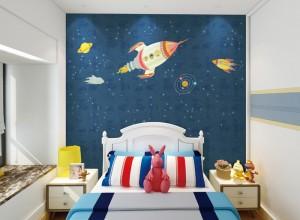 丽绣墙布独绣系列卧室装修效果图