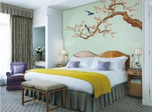 雅绣之家墙布独绣系列卧室效果图
