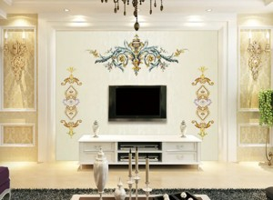 雅绣之家墙布独绣系列客厅装修效果图