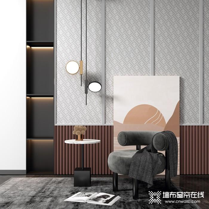 蝶装墙布轻奢1号系列现代风格装修效果图