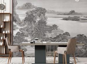 逸绣墙布壁画系列产品效果图