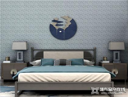 雅诗澜墙布搭配木色背景,将新中式风格展现的淋漓尽致