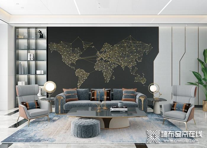 欧可丽墙布现代轻奢背景系列装修效果图