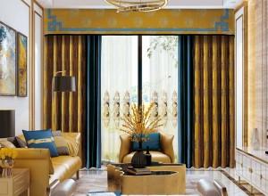 伊莎莱窗帘现代风格装修效果图,客厅窗帘图片