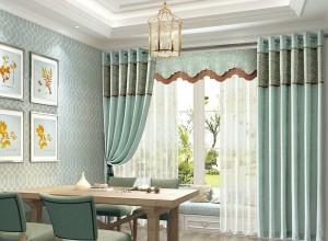 客厅窗帘图片,伊莎莱窗帘美式风格效果图