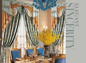 欧式风格窗帘图片,伊莎莱客厅窗帘装修图