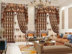 伊莎莱窗帘-A1508-34G-欧式风格