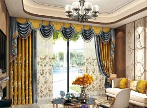 伊莎莱窗帘中式风格客厅装修效果图