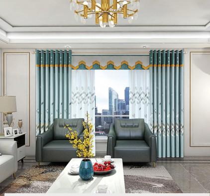 美居乐窗帘现代风装修图,客厅窗帘图片